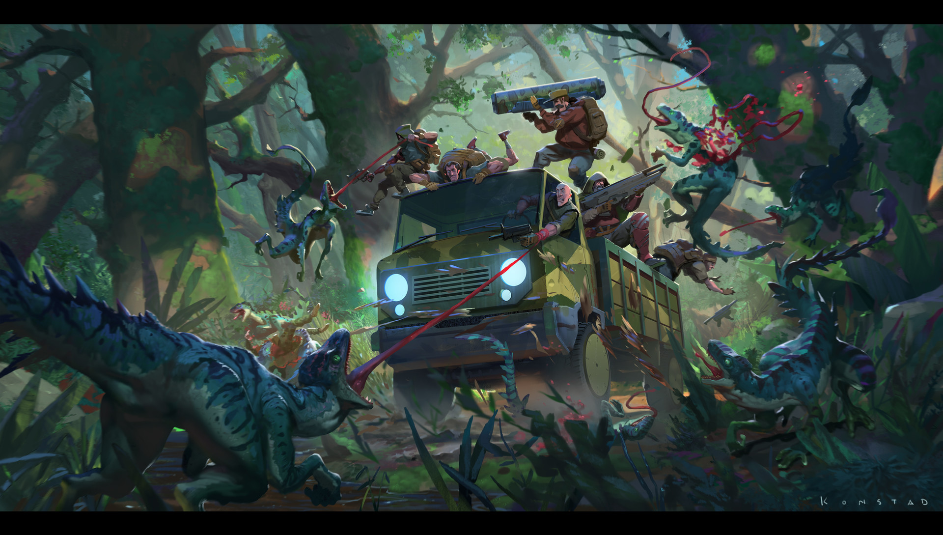 Alex Konstad Digital Painting Forest Encounter