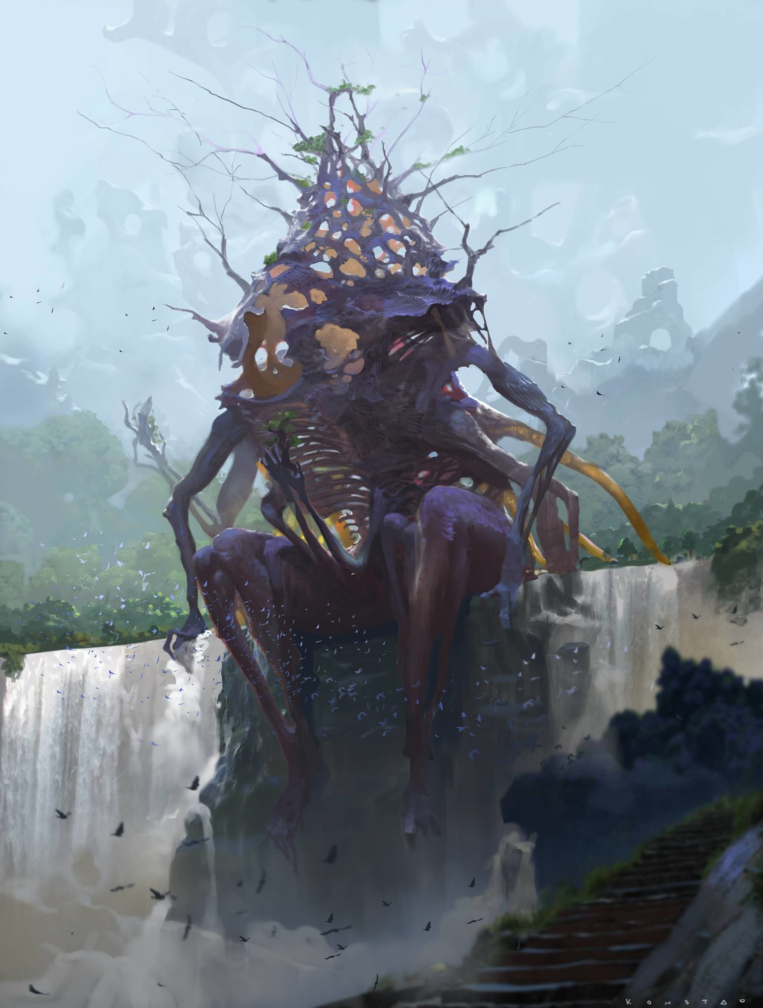 Alex Konstad Digital Painting Obliskura The Riddled One