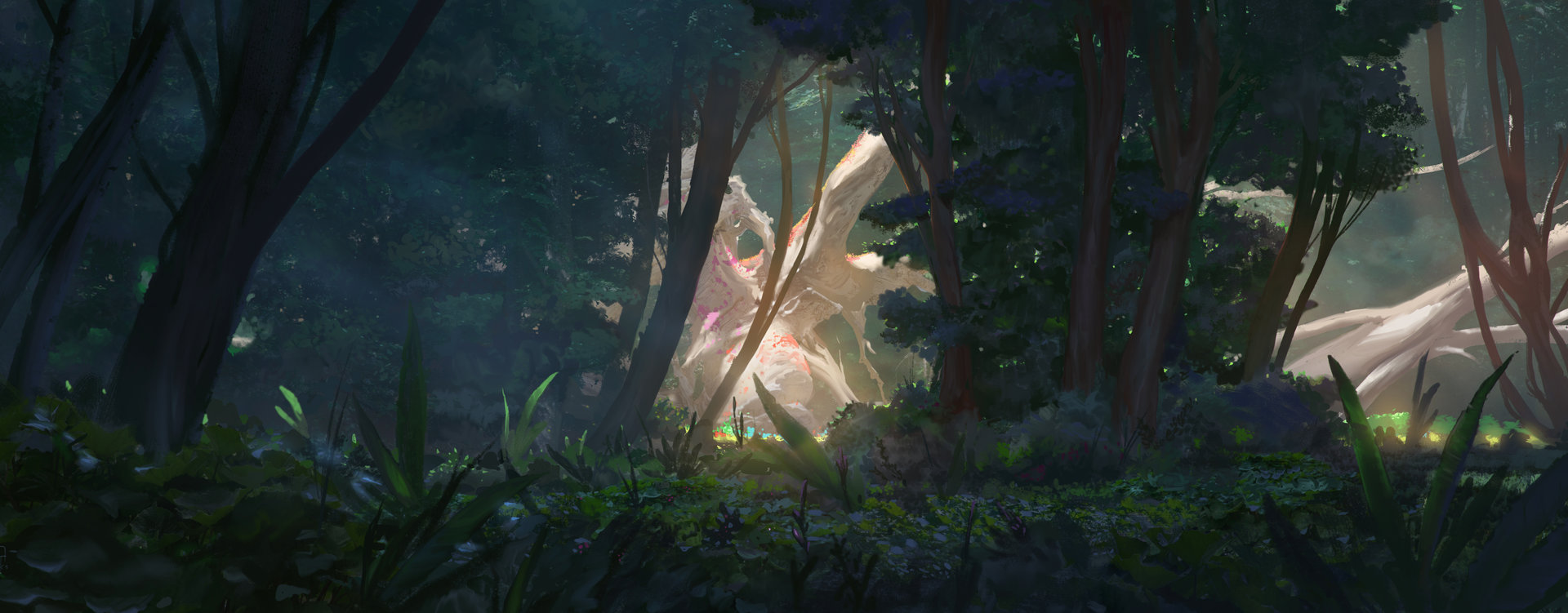 Alex Konstad Digital Painting Obliskura Forest