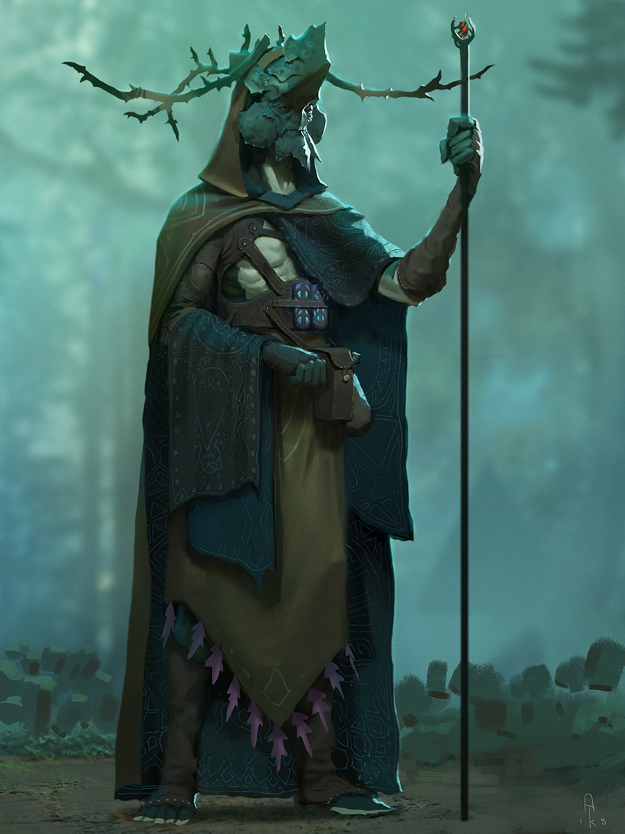 Alex Konstad Digital Painting Obliskura Forest Shaman
