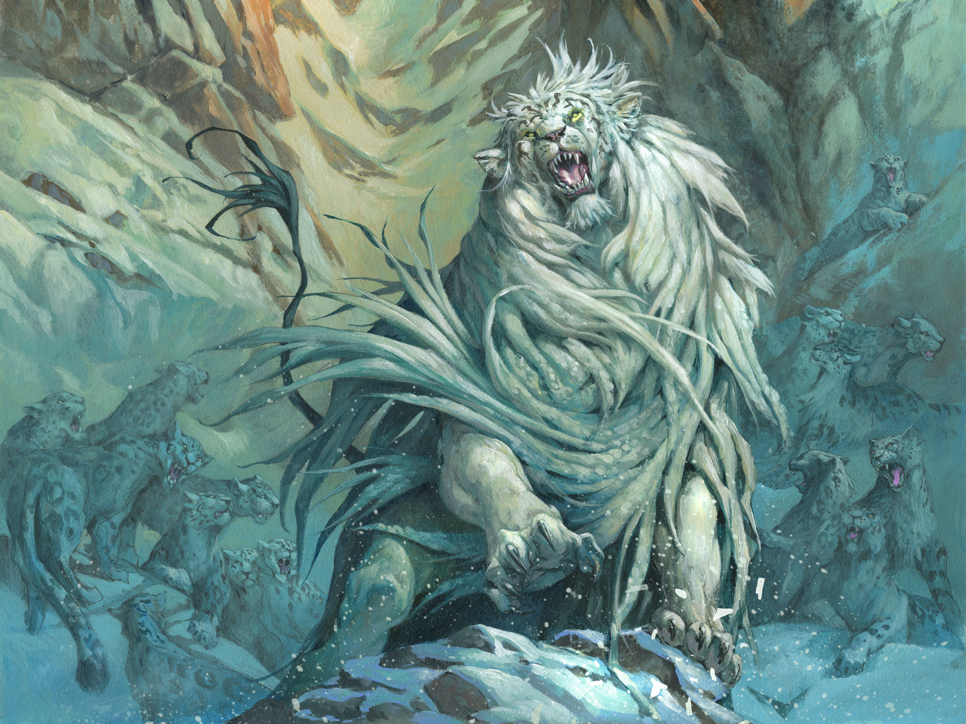Jesper Ejsing Acrylic Painting Arahbo, Roar of the World Magic the Gathering commander card art
