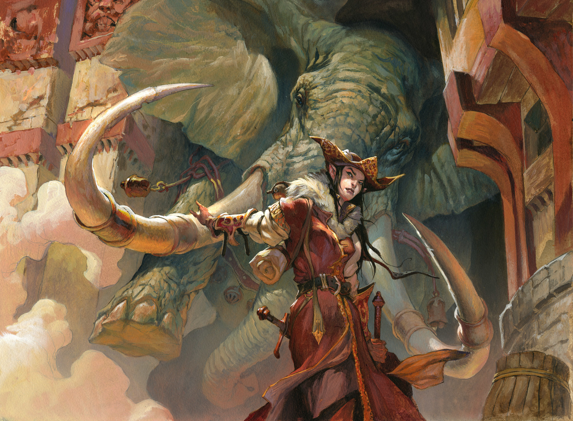 Jesper Ejsing Acrylic Painting Summoner´s Bond Magic the Gathering artwork