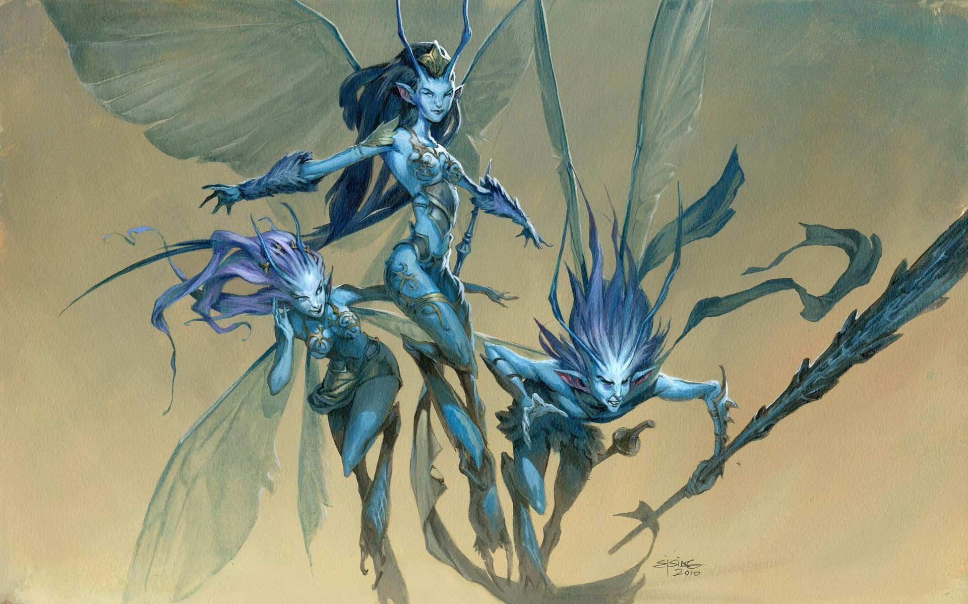 Jesper Ejsing Acrylic Painting Vendilion Cilque Magic the Gathering
