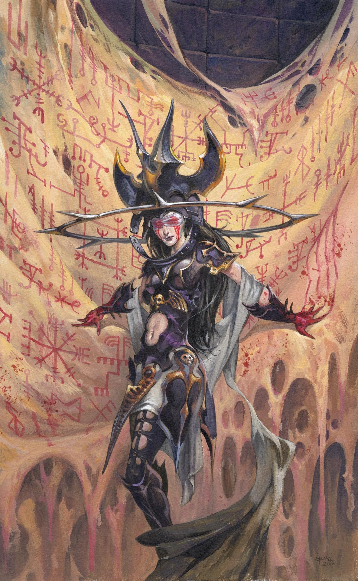 Jesper Ejsing Acrylic Painting Archenemy Magic the Gathering