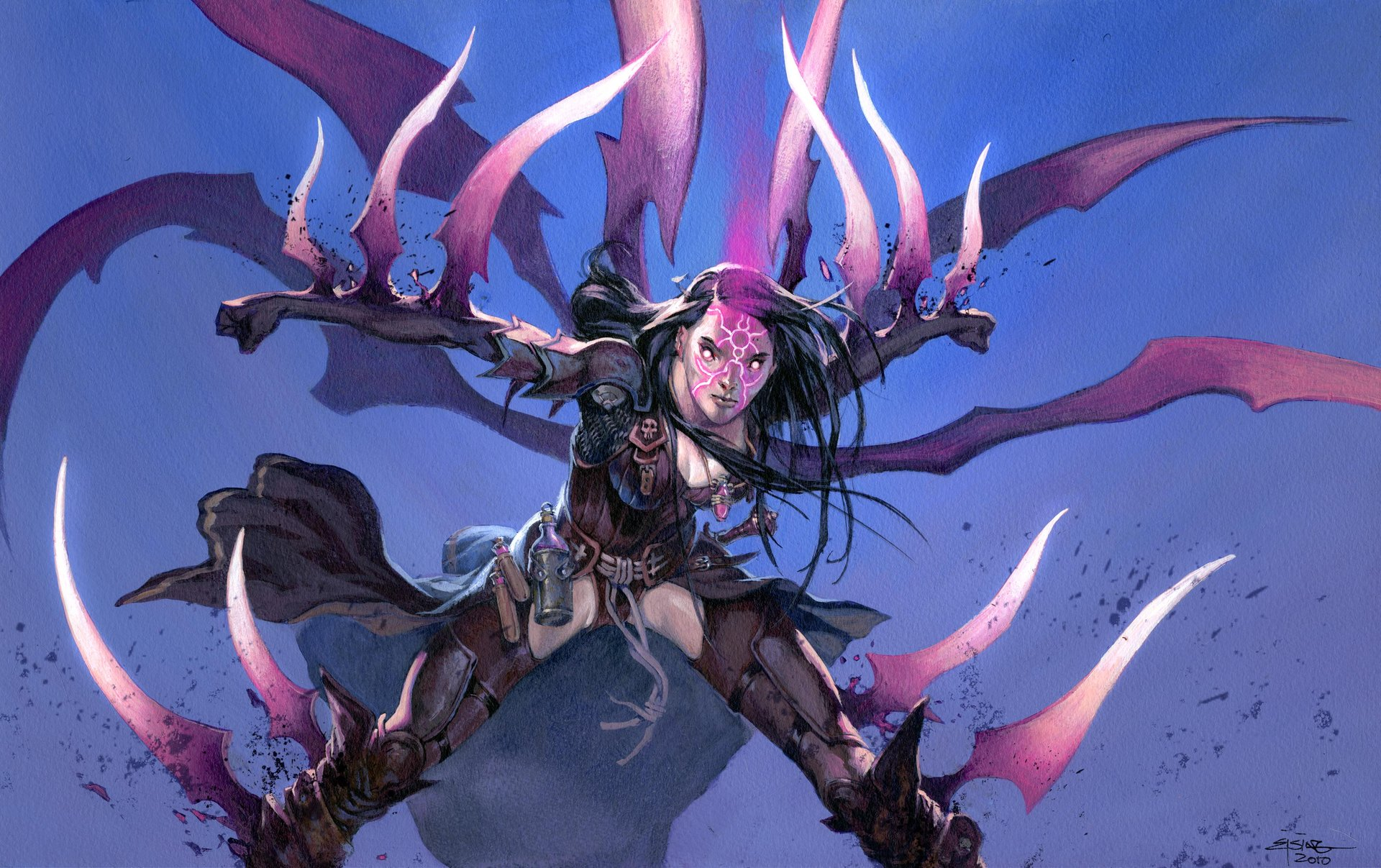 Jesper Ejsing Acrylic Painting Claw Rune Magic the Gathering