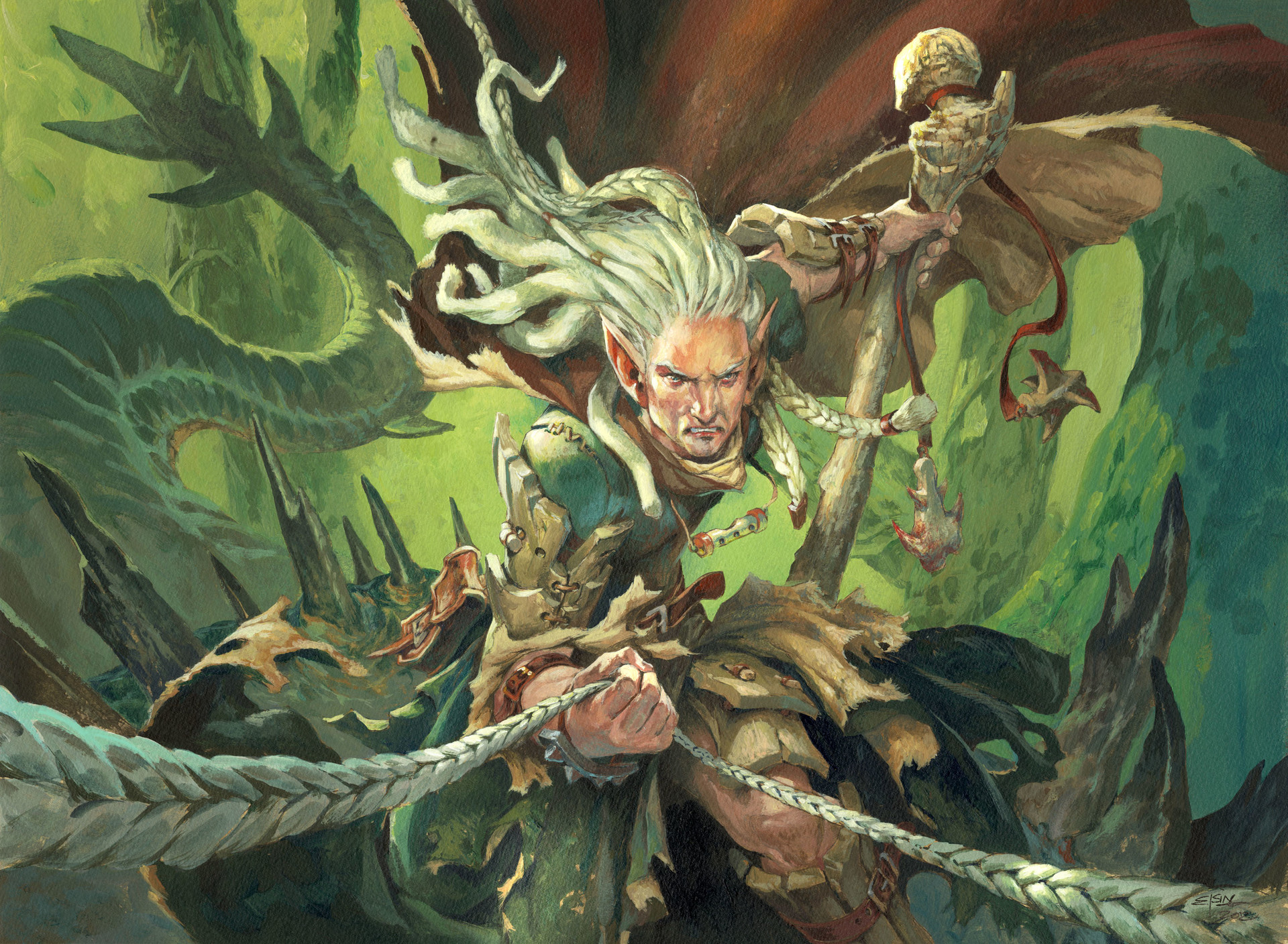Jesper Ejsing Acrylic Painting Advocate of the Beast Magic the gathering