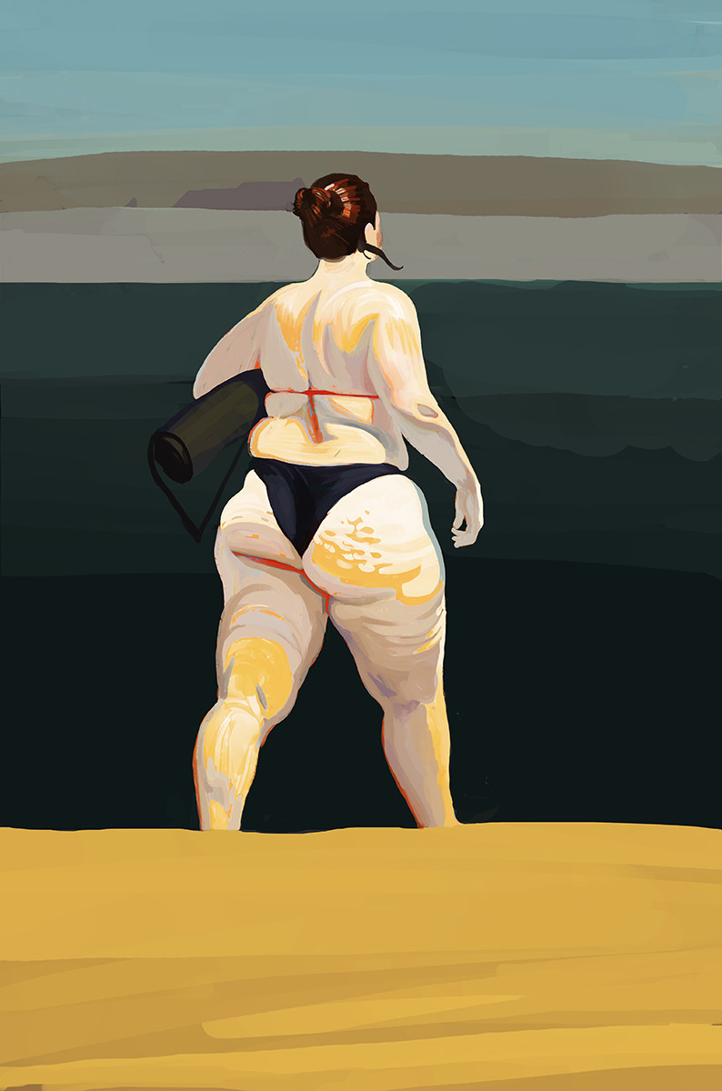 Andrey Surnov Digital Painting Beach woman