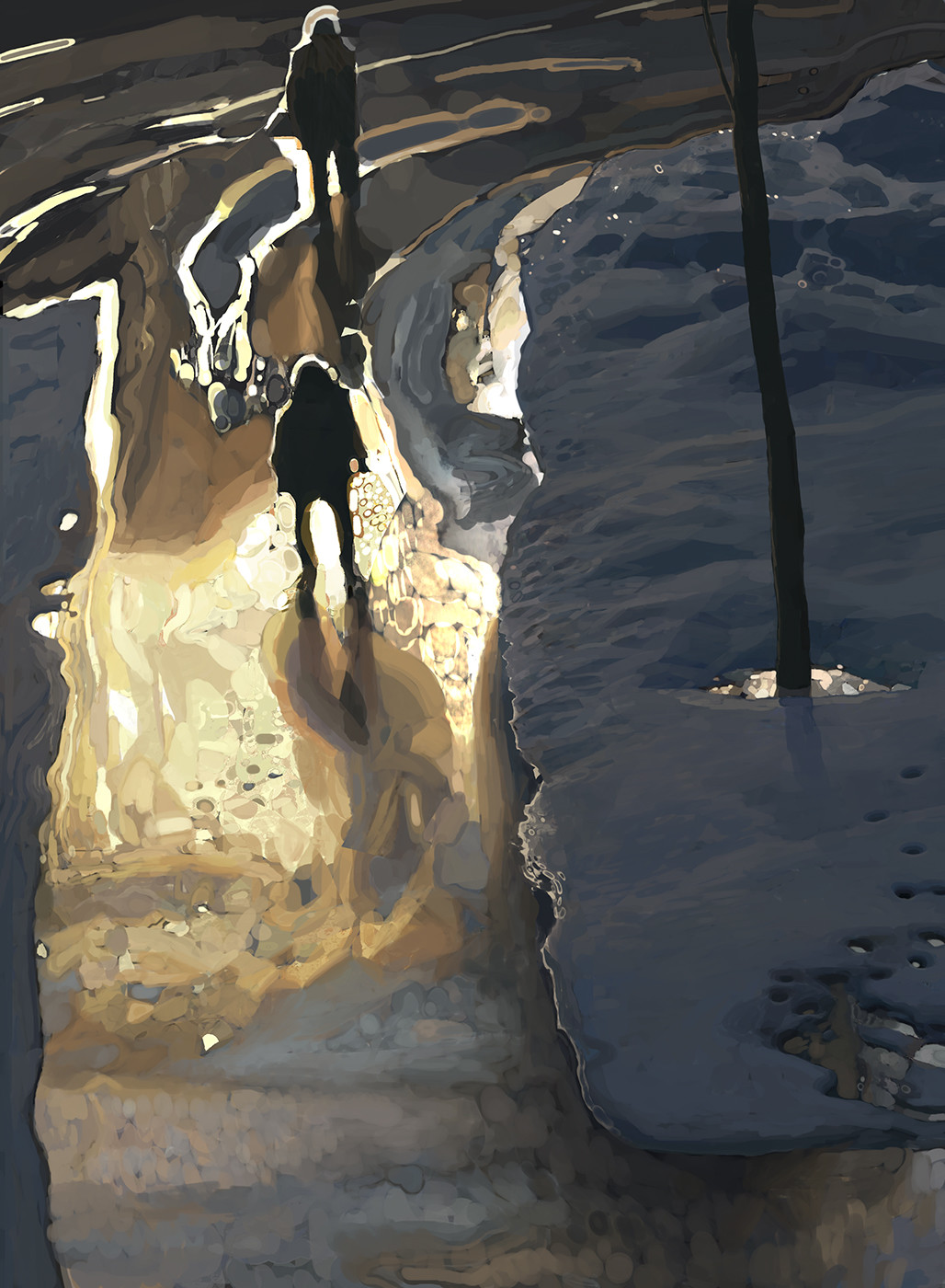 Andrey Surnov Digital Painting Last years winter snow