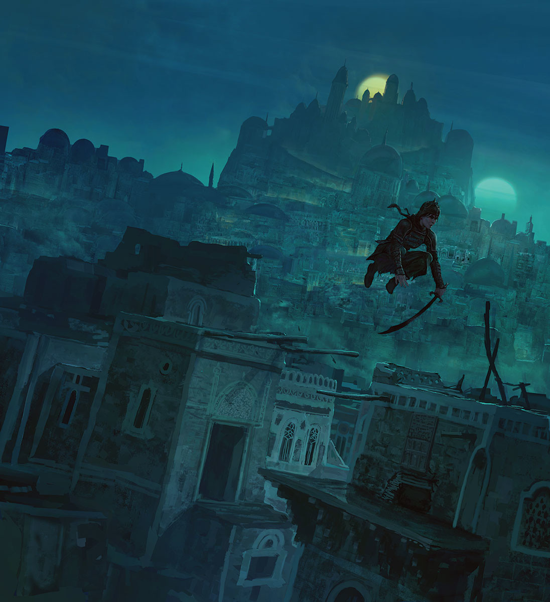Marc Simonetti Digital Painting two moons
