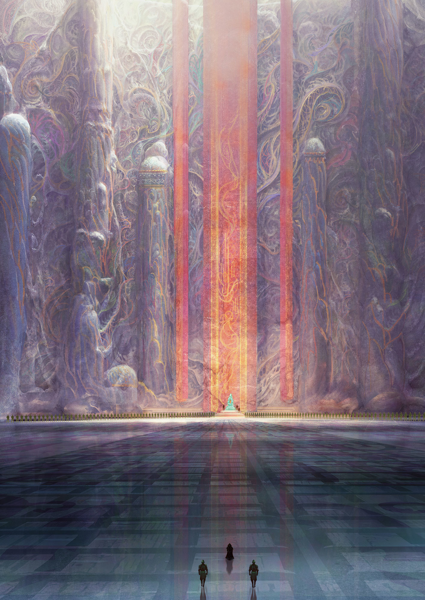 Marc Simonetti Digital Painting Dune Messiah, Muad'hib throne room