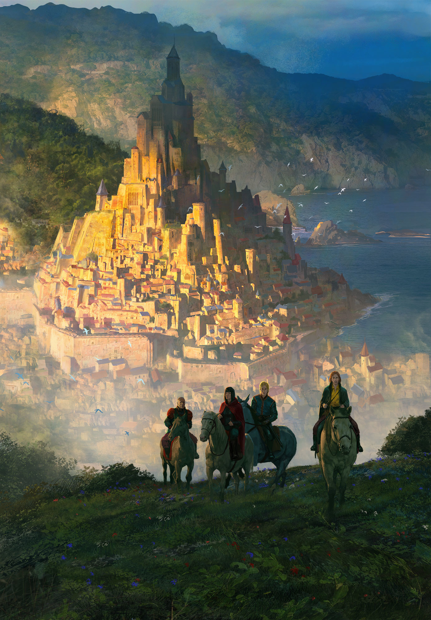 Marc Simonetti Digital Painting King of ashes