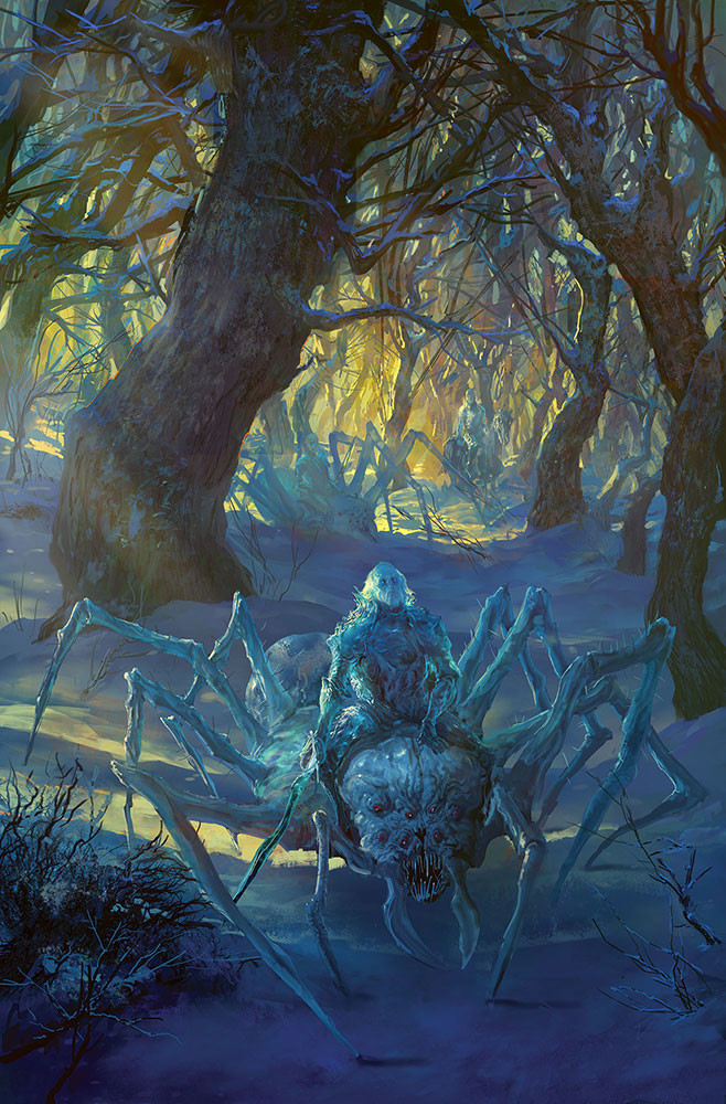 Marc Simonetti Digital Painting Ice spiders