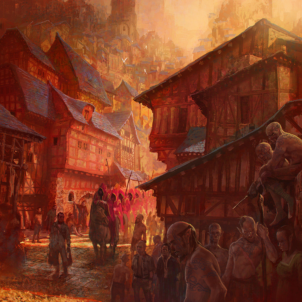 Marc Simonetti Digital Painting La Procession rouge