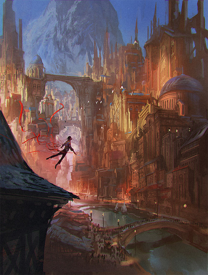 Marc Simonetti Digital Painting The thunderer