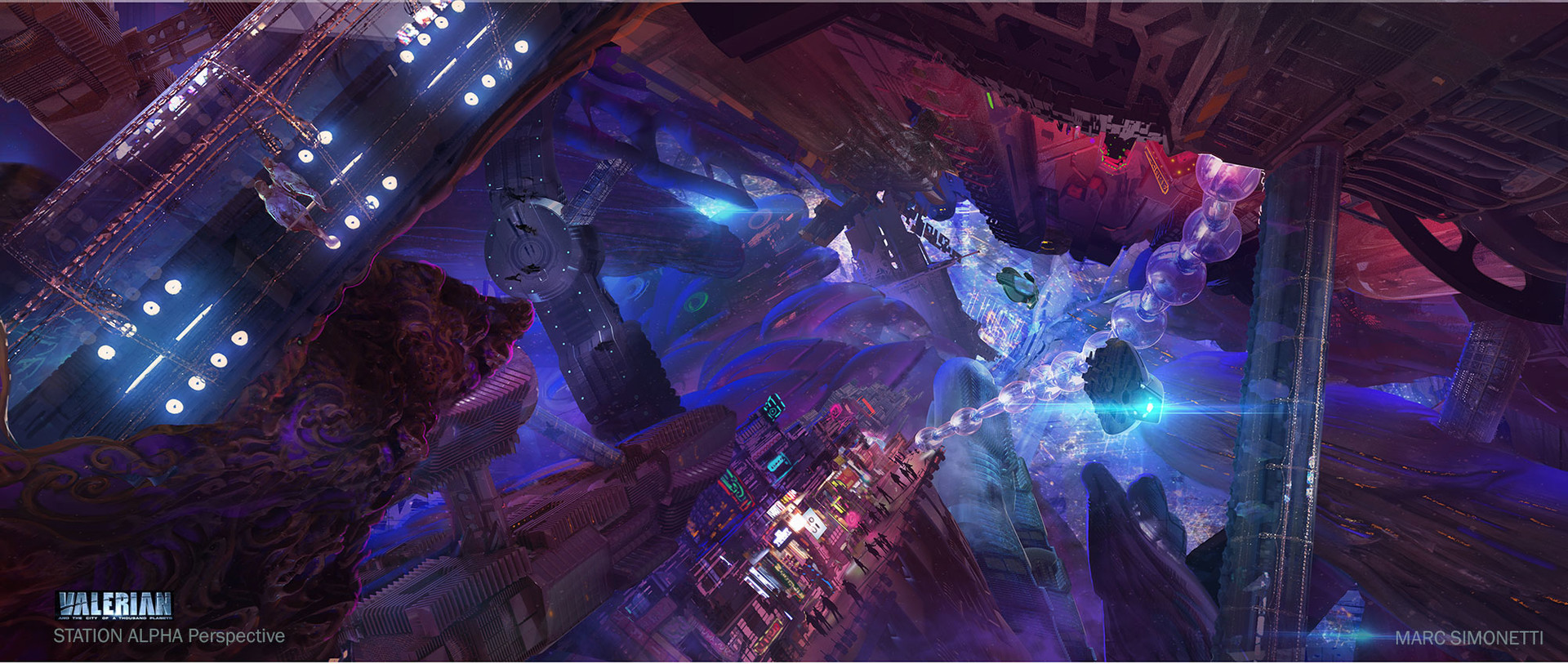 Marc Simonetti Digital Painting Valerian and the city of a thousand planets