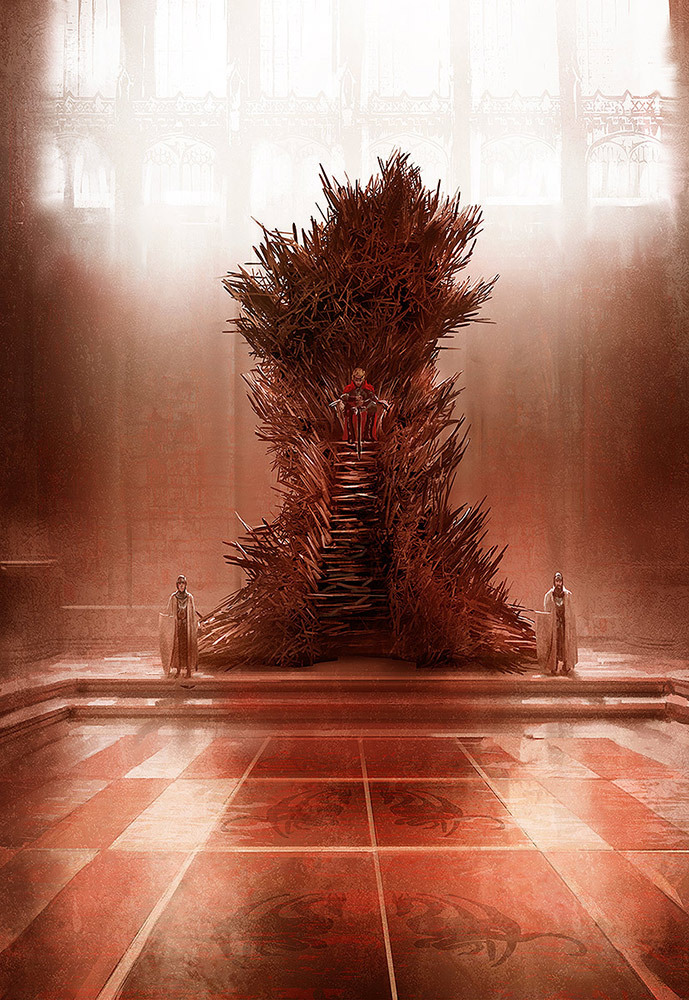 Marc Simonetti Digital Painting Iron Throne