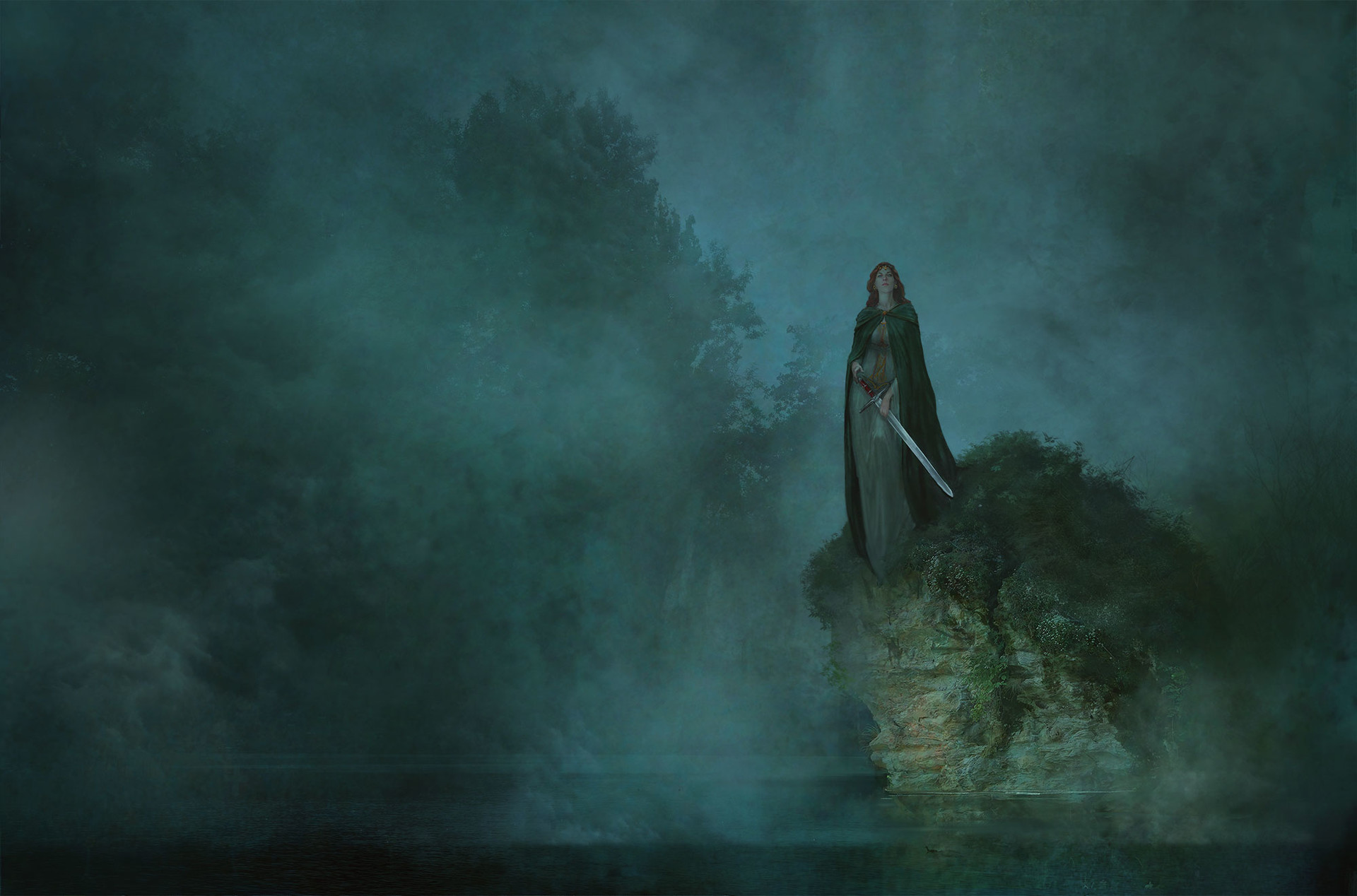 Marc Simonetti Digital Painting Mists of Avalon