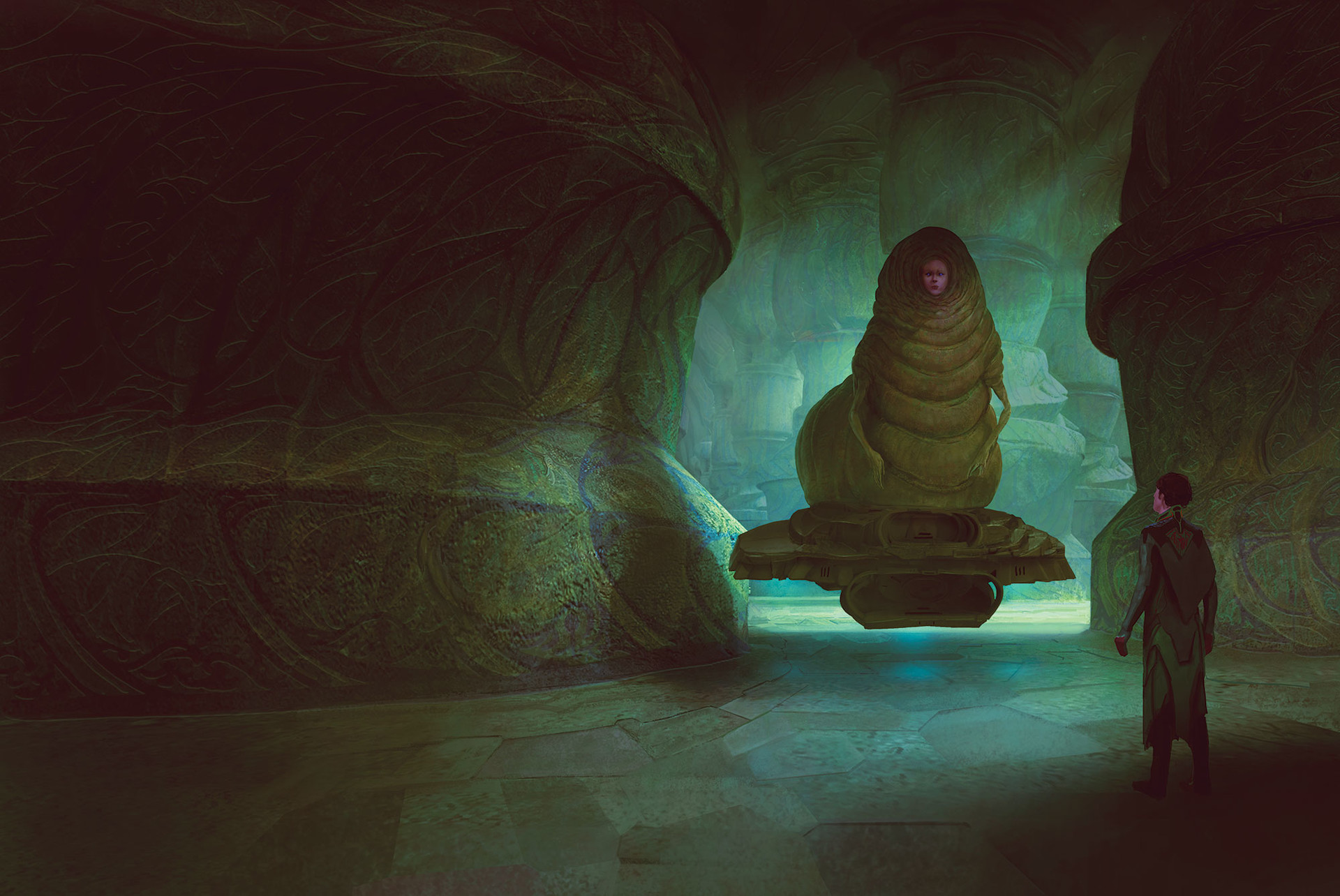Marc Simonetti Digital Painting Emperor of Dune