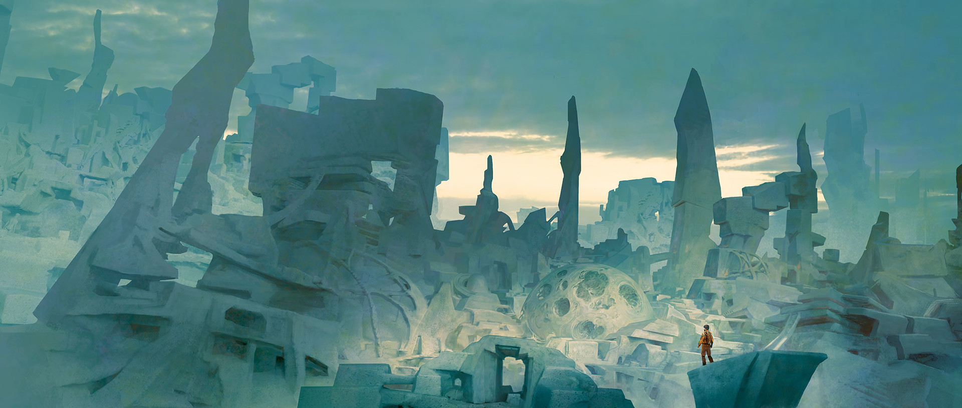Marc Simonetti Digital Painting Stone city