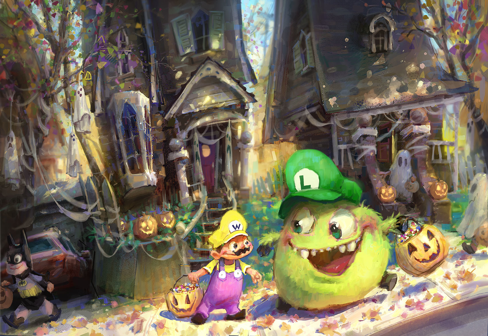 marco bucci digital painting illustration Happy Halloween