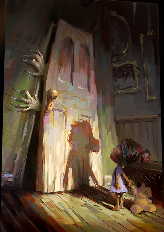 marco bucci digital painting illustration I wouldn't go in there