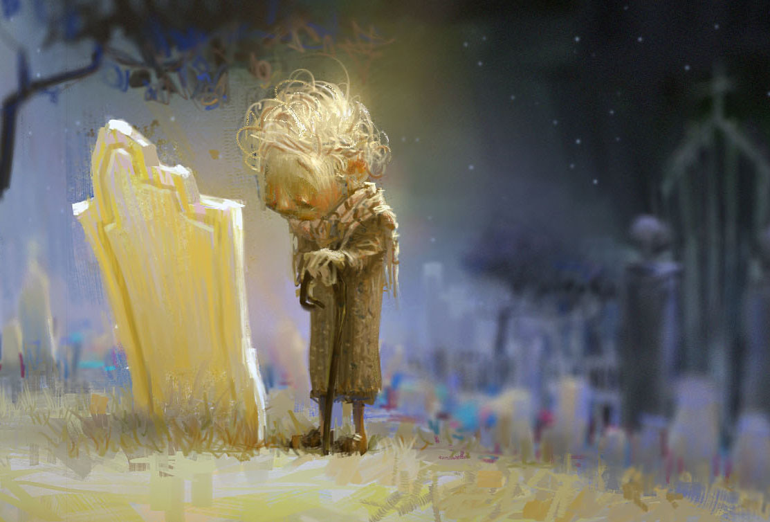 marco bucci digital painting illustration havent forgotten kid sadness