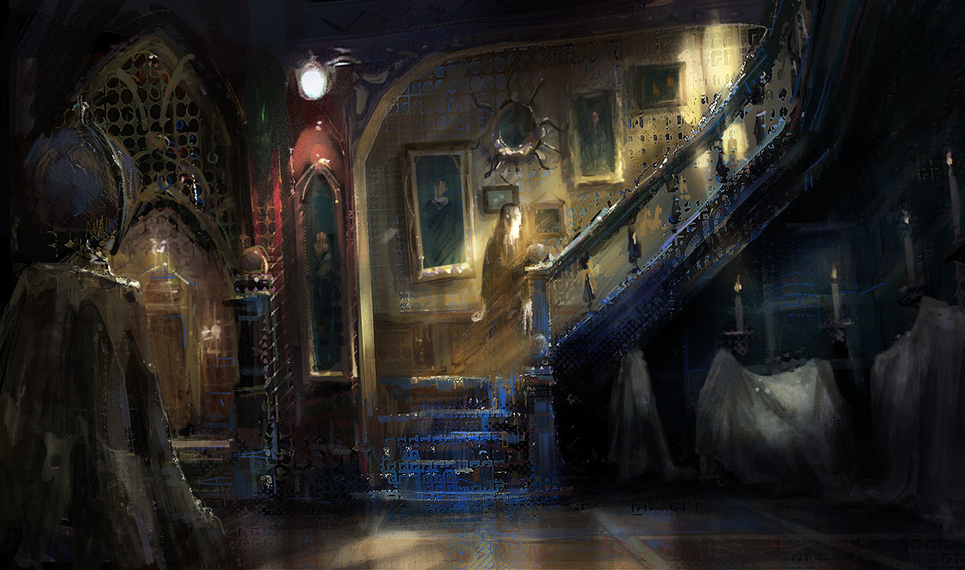 marco bucci digital painting illustration This is not your house
