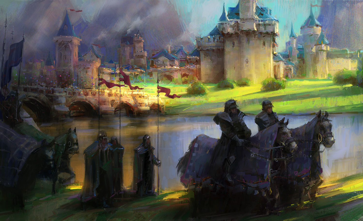marco bucci digital painting illustration the march castle