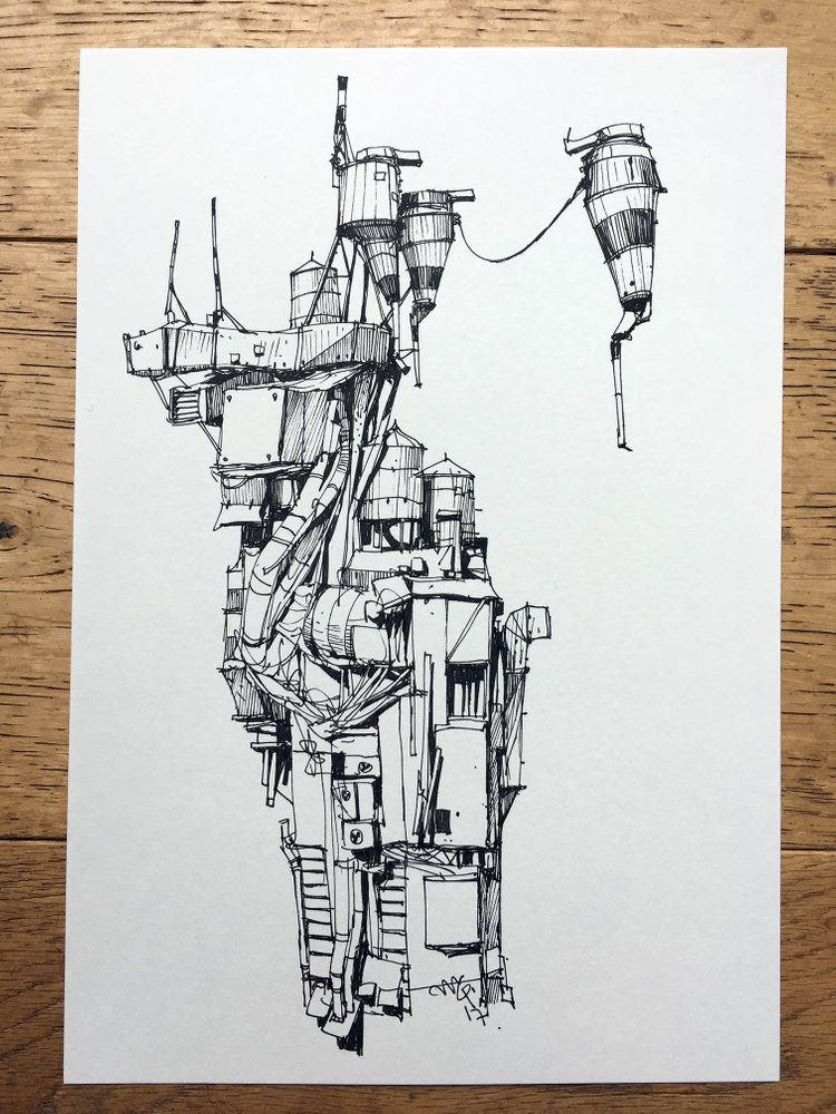 Ian McQue sketch structure