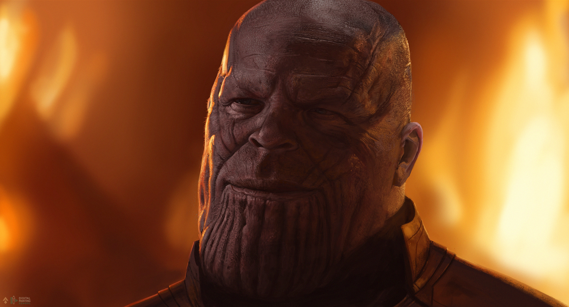 Thanos speed painting