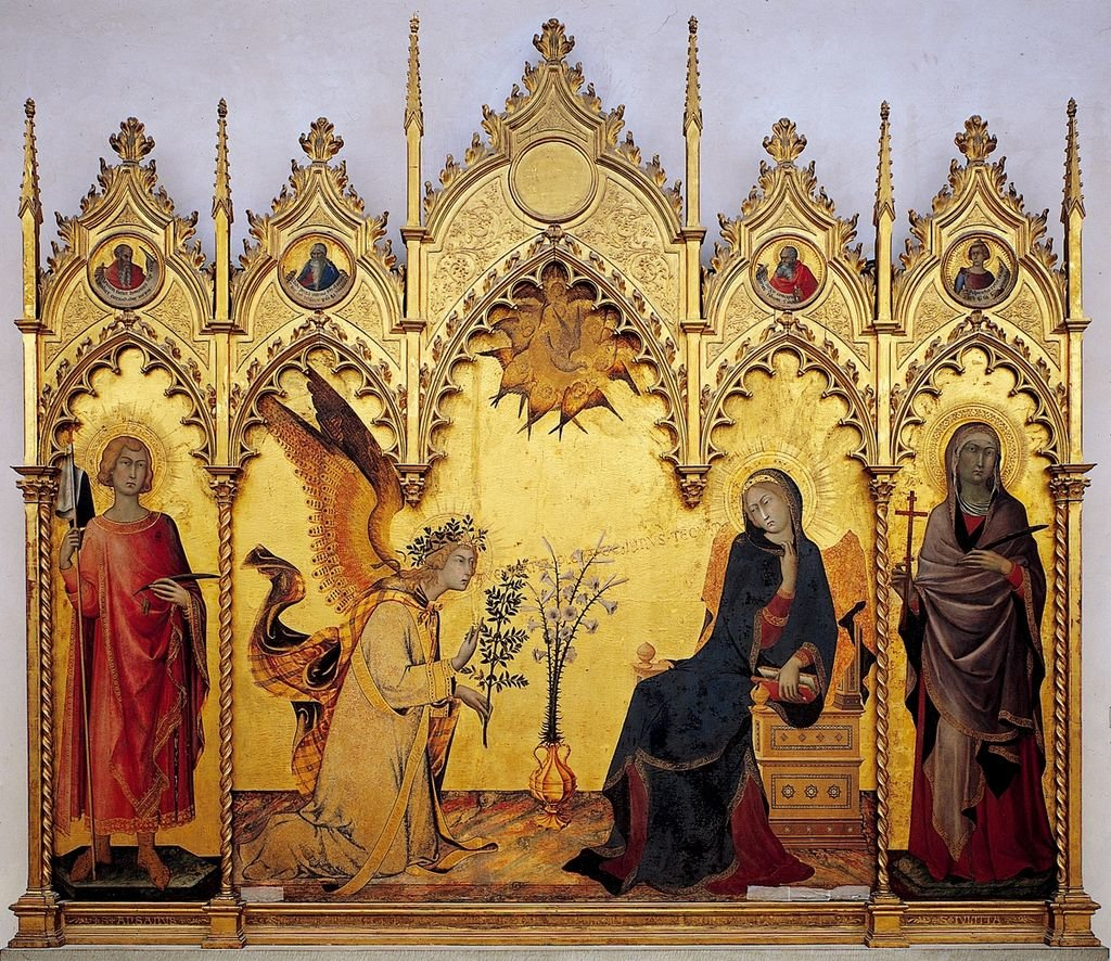 Simone Martini, Annonciation, Florence, 1333