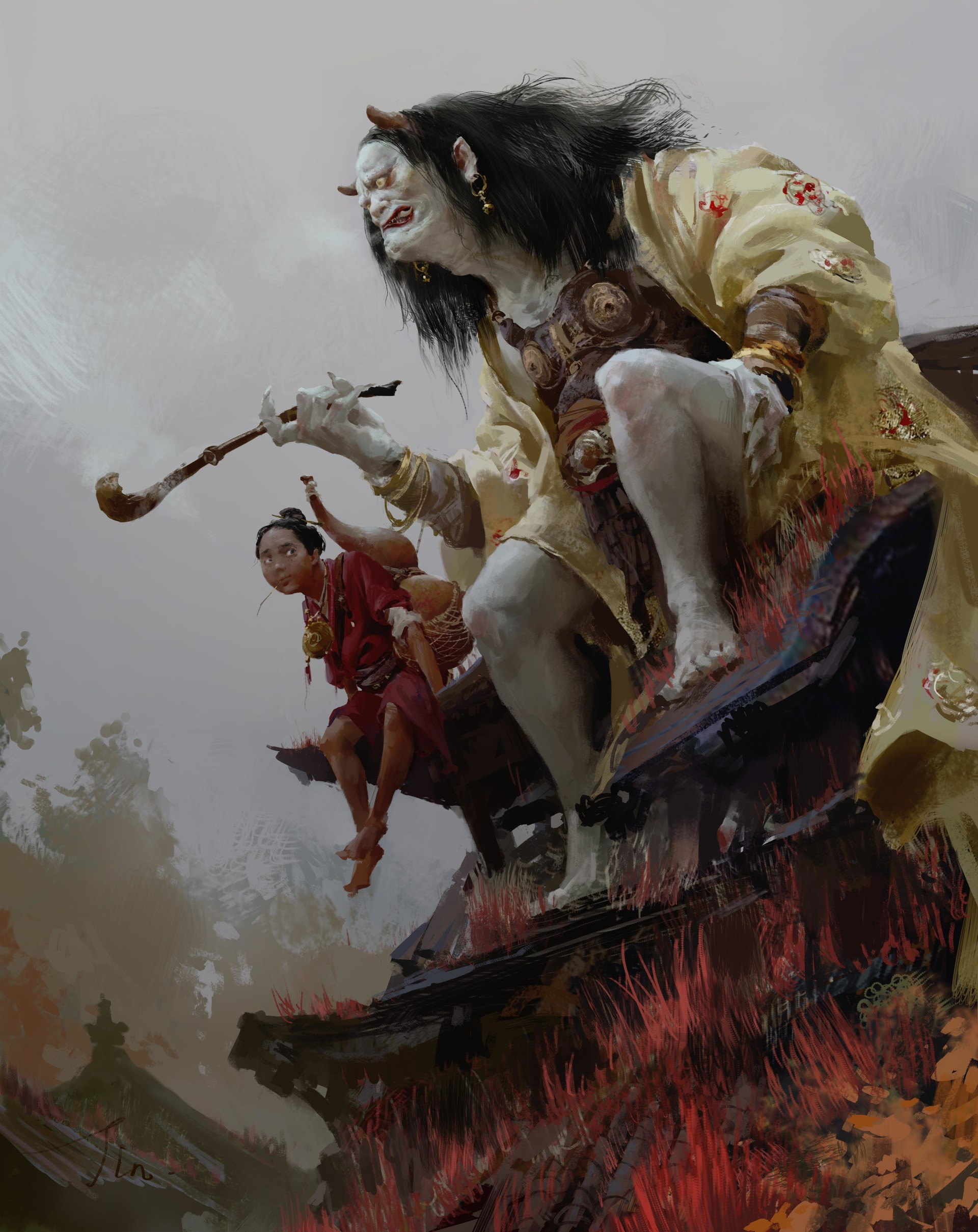 Xiaodi Jin Digital painting illustration Autumn