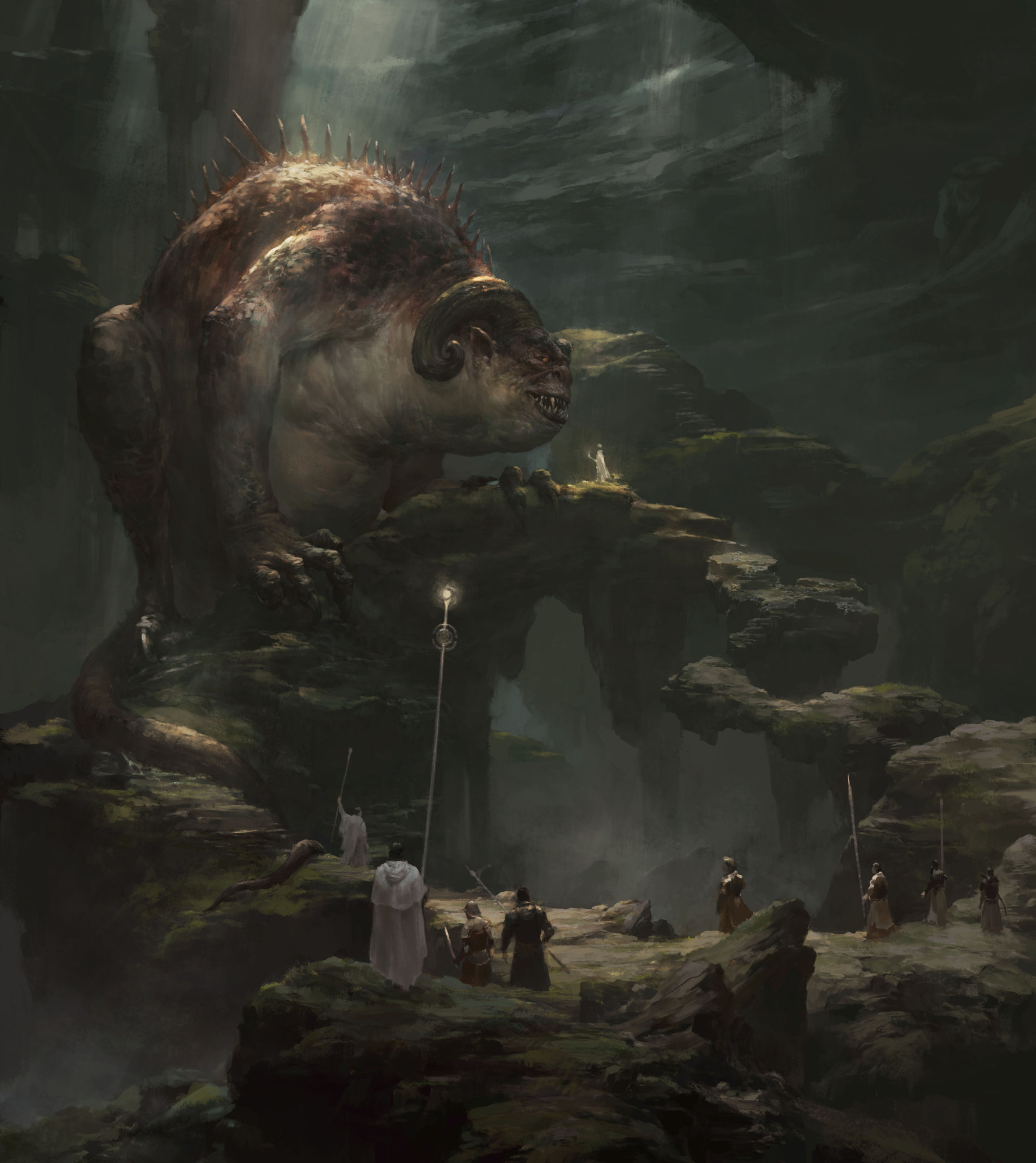 Xiaodi Jin Digital painting illustration Monster Forest