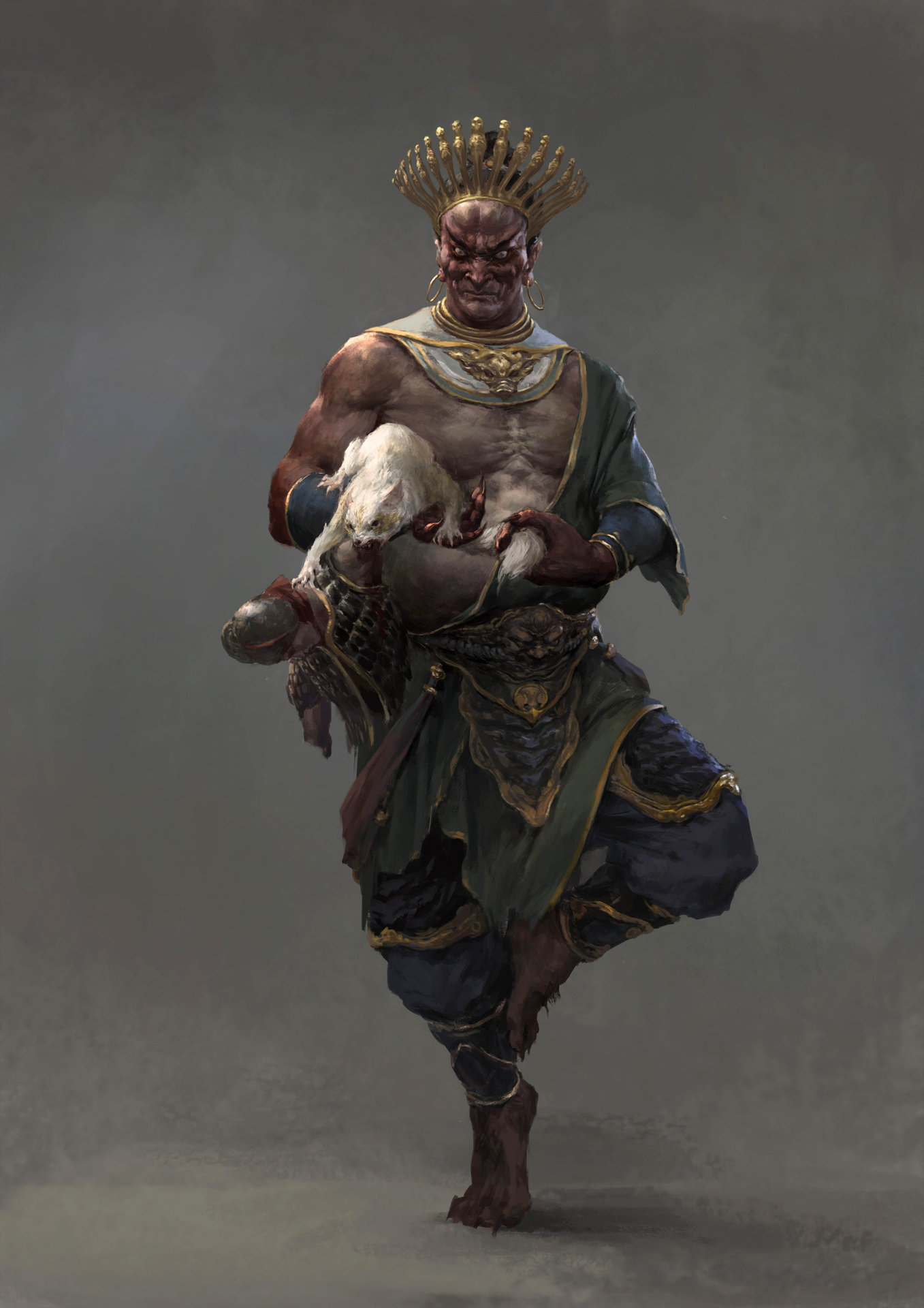 Xiaodi Jin Digital painting Concept Art Character Design Male with animal
