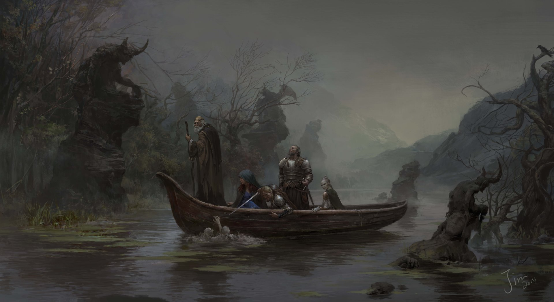 Xiaodi Jin Digital painting illustration Marsh adventure