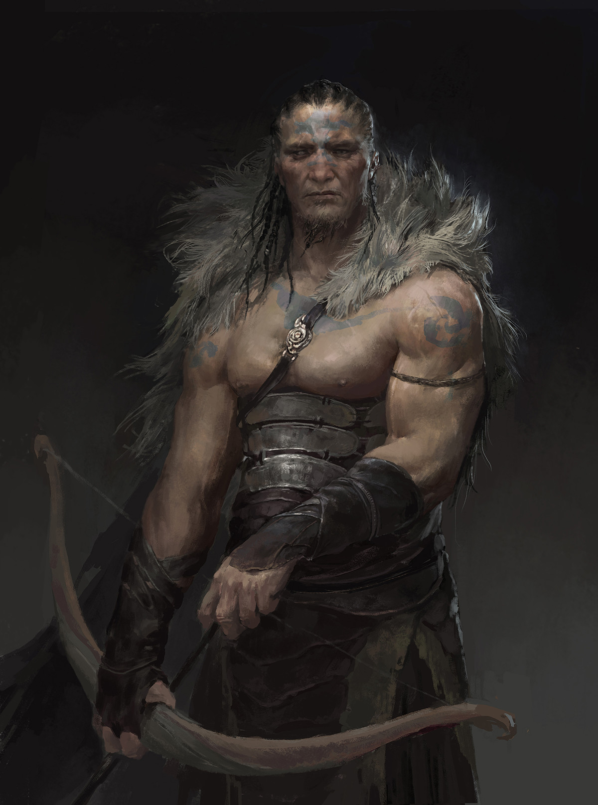 Xiaodi Jin Digital painting Concept Art Character male hunter