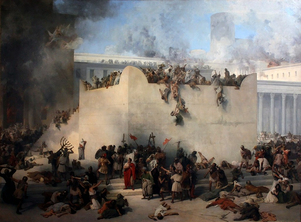 Francesco_Hayez, la destruction du temple de Jérusalem, Gallerie dell'Accademia, 1867