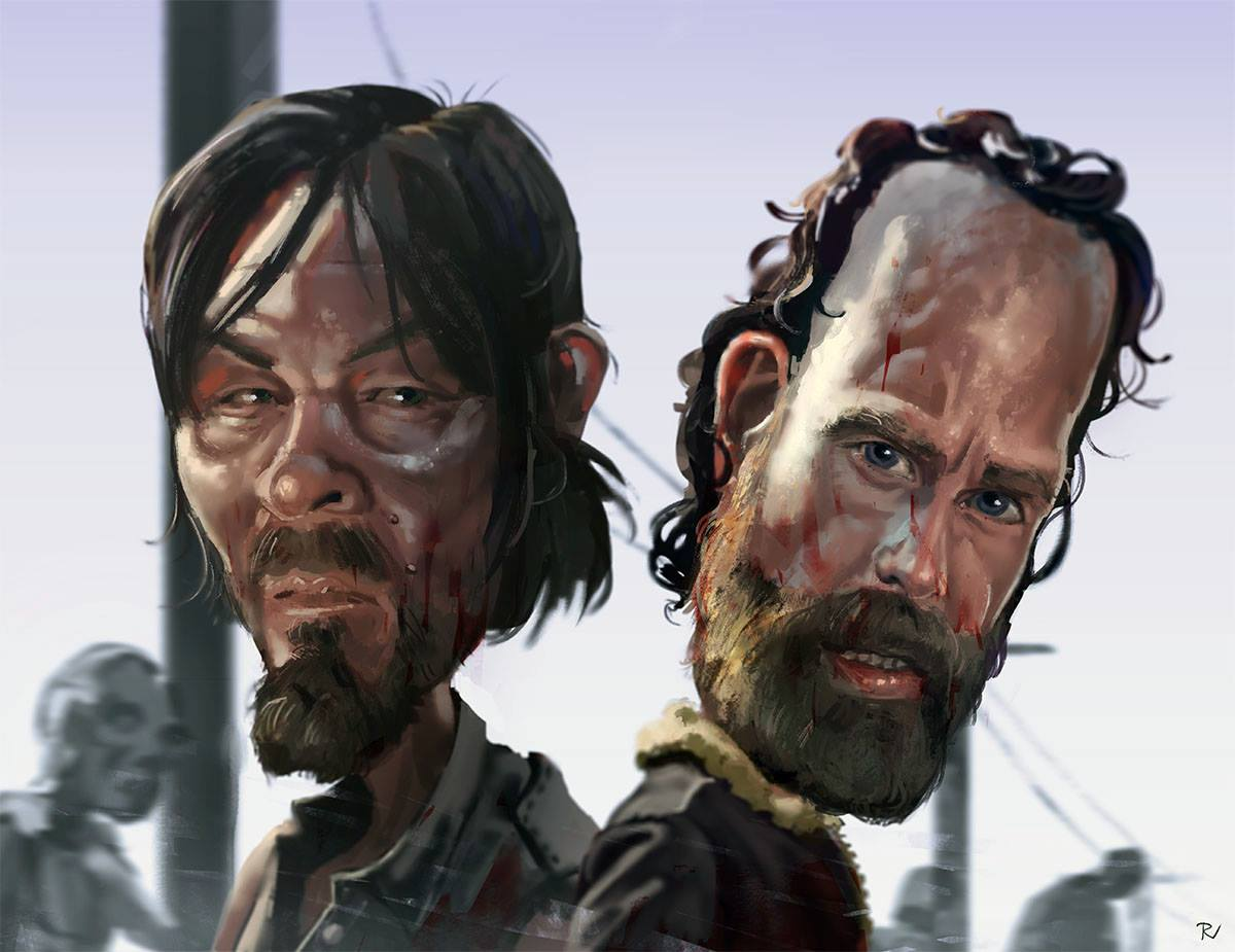caricature-walking-dead